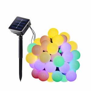 Image 5 - 7M topu dize işıklar güneş enerjili 50LED noel işık Patio aydınlatma ev bahçe çim parti süslemeleri