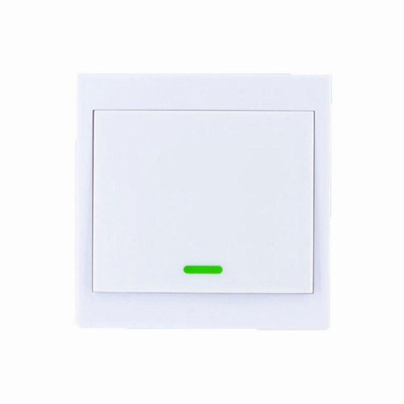 86 Panel de pared inalámbrico transmisor remoto tableta amortiguador Tech accesorio beige Rojo Negro compruebe Tartan tableta amortiguador canal pegajoso TX RF inteligente para casa habitación dormitorio 315/433 MHz