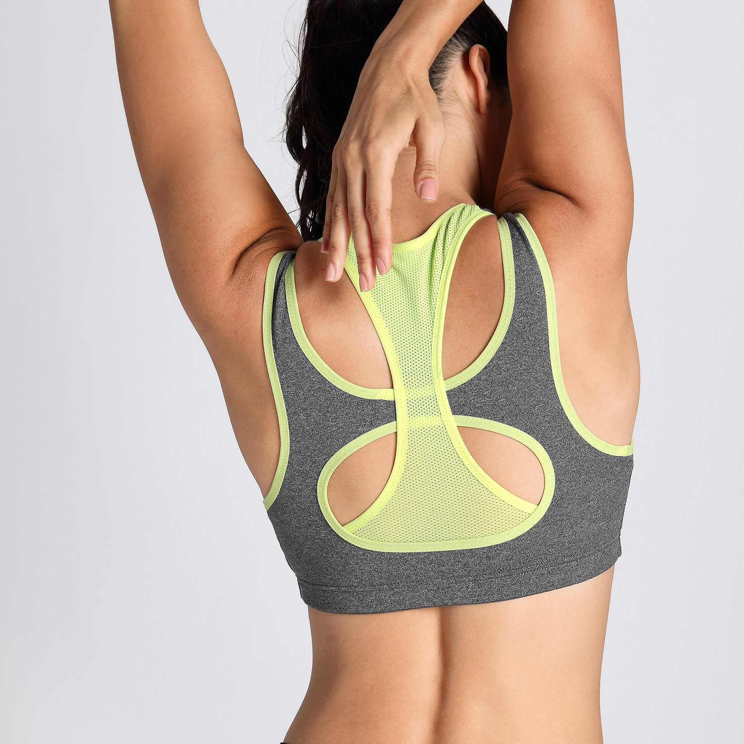 a9c7cc80352 ... Top  SYROKAN Women s High Impact Support Workout Racerback Wirefree  Sports Bra ...