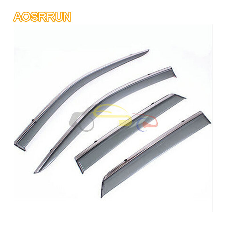 AOSRRUN articles light rain cover special for stainless steel bright sunny rain rain eyebrow For Ssangyong Korando aosrrun cover the black rain rain shield rain or shine ordinary rain eyebrow for ssangyong korando kyron actyon car accessories