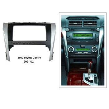 Seicane черный, серебристый, двойной Din автомобильный радиоприемник для 2012 Toyota Camry панель автомобильной стереосистемы комплект лицевой панели ... >> seicane Official Store