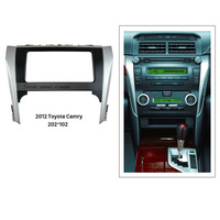 Seicane Black Silver Double Din Car Radio Fascia for 2012 Toyota Camry Autostereo Panel kit Face Plate Dash CD