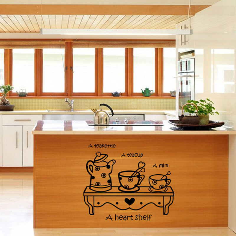 Home Decor Kitchen Removable Vinyl Wall Stickers Mural Decal Art Home Decor 57*48CM wall sticker Home Deco mirror AU15