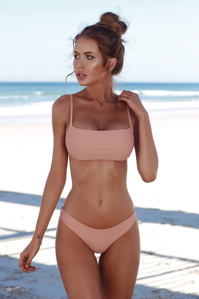 2018 New Summer Women Solid Bikini Set Push-up Unpadded Bra Swimsuit Swimwear Triangle Bather Suit Swimming Suit biquini 4