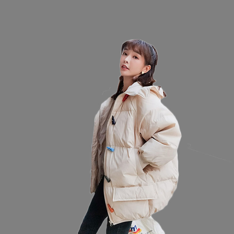 Winter Women's Long Thick Hooded   Parkas   2018 New Bread Service Korean Loose Female Oversized Down Cotton Jacket LQ597