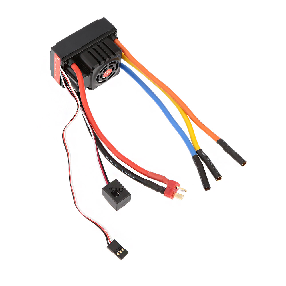 FVT Wolf 2-6s LiPo Battery 120A Pro A Waterproof ESC Electronic Speed Controller with Switch Mode 6V/3A BEC for RC Car