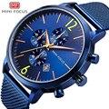 Модные мужские часы с мини-фокусом, водонепроницаемые, люксовый бренд, мужские часы из нержавеющей стали, спортивные часы, мужские наручные ...