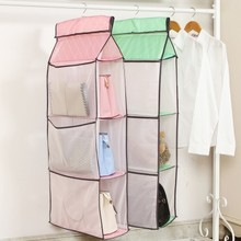 BF040 Visible multi-layer wardrobe door hanging wall bag closet 42*18*160cm free shipping