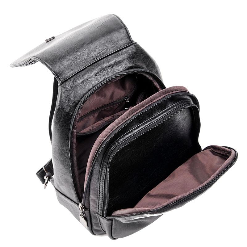 HTB1Cn11FDJYBeNjy1zeq6yhzVXah Women Leather Backpacks Zipper Female Chest Bag Sac a Dos Travel Back Pack Ladies Bagpack Mochilas School Bags For Teenage Girls