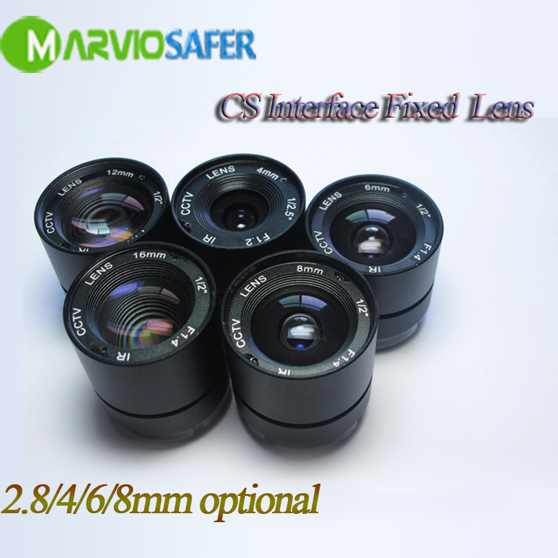 Marviosafer 3MP HD Fixed CS Interface Lens, 4/6mm Focal Length Optional For CCTV Analog/AHD/IP Camera hd 2mp 9mm 22mm zoom manual focal cs lens for hd ip sdi ahd cameras