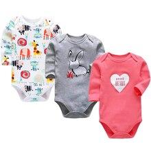 Bebés niñas mono de bebé recién nacido Ropa de niños 3 Pack 3 6 9 12 18 24  meses Bebes infantil de manga larga bodies e0576c7f8f33