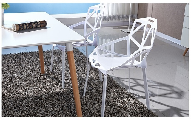 North American Village Bar Plastic Chair Mediterranean Style Garden Outdoor  Chair Free Shipping White Color