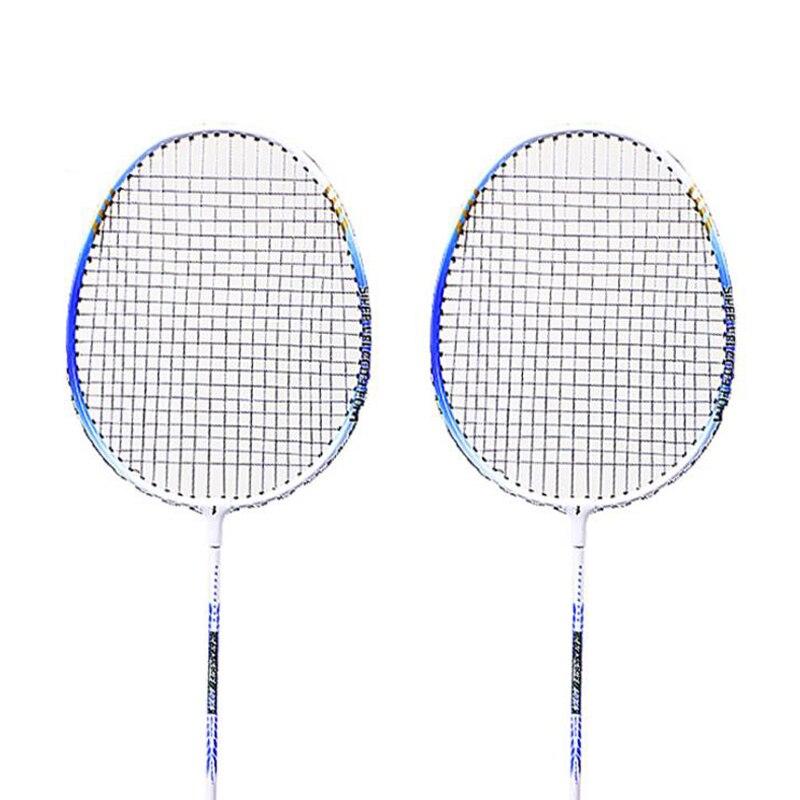 Lightweight Racquet With Carry Bag 2Pcs Aluminium Alloy Badminton Racket