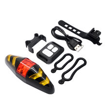 цена на Newly Bicycle USB LED Indicator Rear Tail Light Bike Turn Signal Light with Wireless Remote BN99