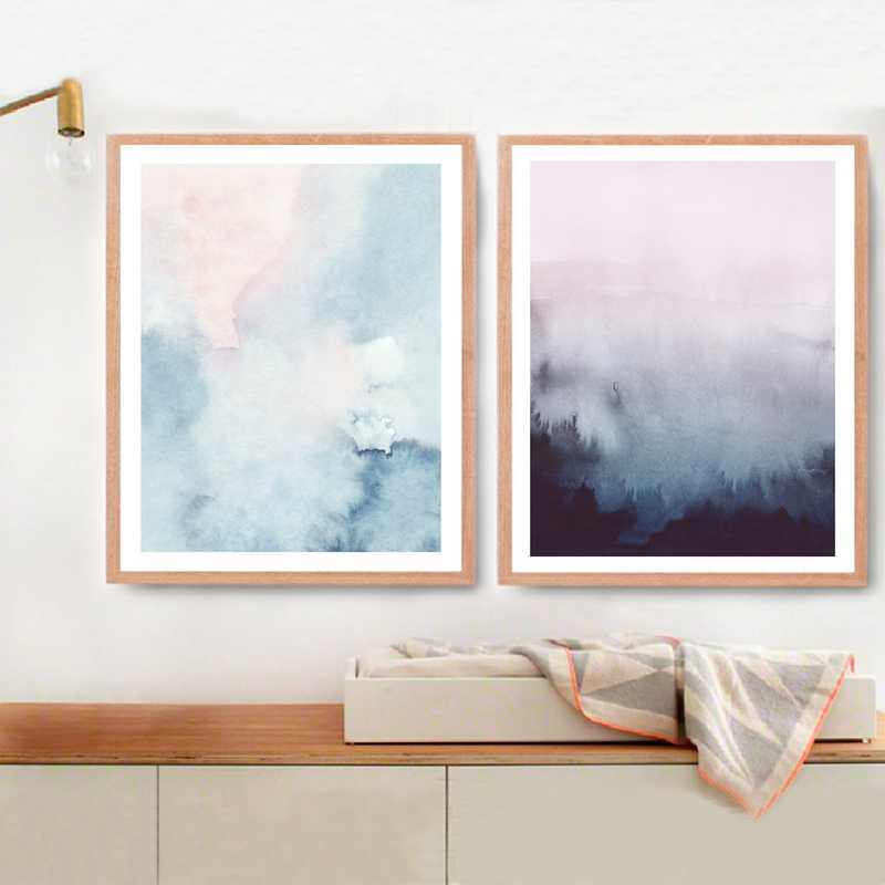 Abstract Art Colorful Posters And Prints Wall Art Canvas Painting Wall Pictures Nordic Abstract Landscape Picture Decoration