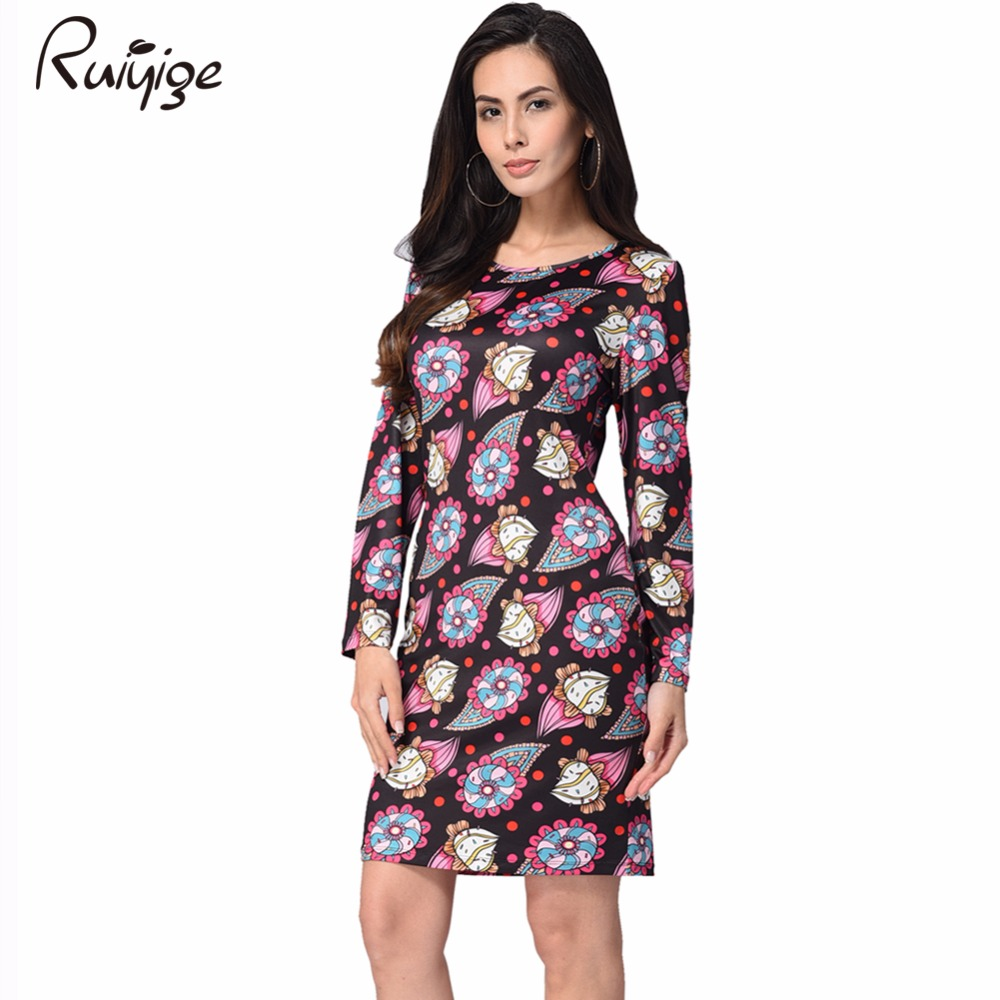 Christmas dress casual - 2017 Ruiyige New Summer Women S Vintage Retro Dress Foral Print Rockabilly Christmas Dress Casual Party Club