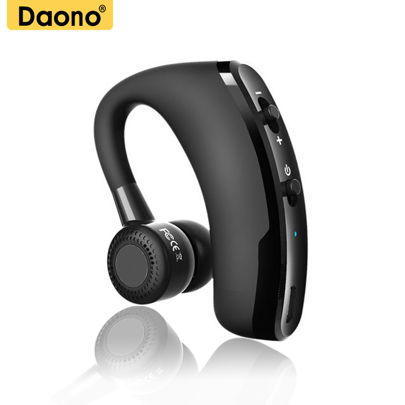 DAONO V9 Handsfree Business Bluetooth Headphone With Mic Voice Control Wireless Bluetooth Headset For Drive Noise Cancelling Наушники
