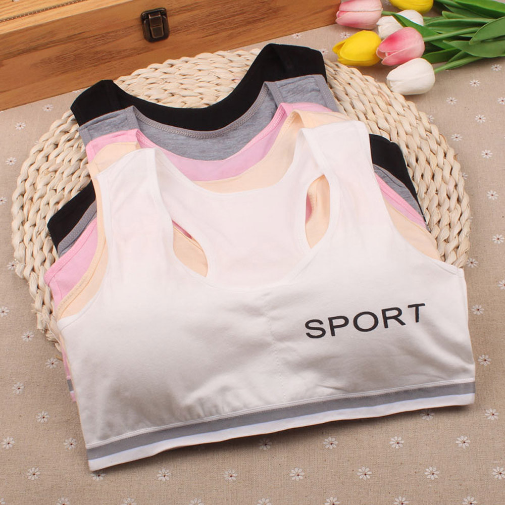 Vest Underwear Girl Kids Children Sport Bra Undies Roupa-De-Menina1.858 Comfortable