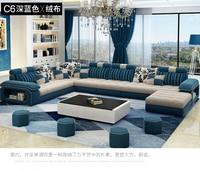 Гостиная диван набор мебель для дома современный Лен пеньковая бархатная ткань секционные диваны U форма большой muebles де Сала moveis para casa