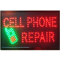 2017 New arrivals led cell phone repair direct sale custom sign 10*19 inch semi outdoor Ultra Bright advertising Running signage