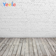 Yeele White Brick Wall Wooden Boards Floor Portrait Photography Background Seamless Photographic Backdrop Props For Photo Studio