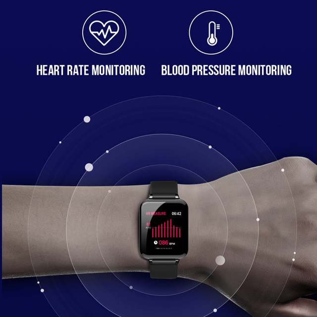 LEMDIOE b57 smartwatch men women Heart Rate Blood Pressure Monitoring Call Message Reminder Waterproof Fitness Tracker