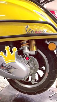 אופנוע הלם בולם להפחית 2-3cm גובה עבור Piaggio Vespa ספרינט 150 Primavcra 150 הלם בולם גובה זרוק