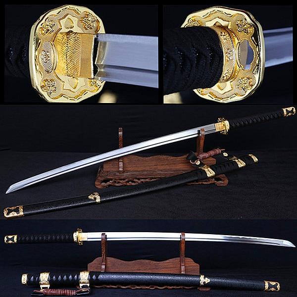 Combat Japonais € 53.42 |100% forgés à la main épée de samouraï japonais  ménage métal  décoratif couteau de combat 1060 pratique en acier couteau tranchant