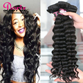 Raw Brazilian Beach Weave Virgin Hair Beauty Queen Hair Brazilian Loose Deep Wave Cheap Human Hair Weft 3pc lot Wet and Wavy