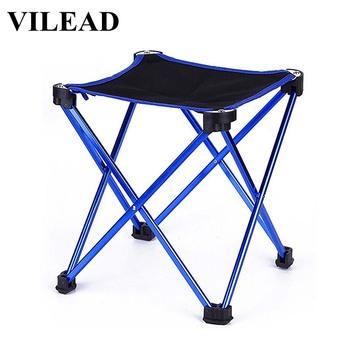 VILEAD 4 kolory składane przenośne krzesło piknikowe aluminium Camping grill plaża wędkowanie zewnątrz siedzenia Ultralight składane twarde 20*20*20cm tanie i dobre opinie Red Blue Orange Sky blue 20 7*20 7*20 7cm 28 4*6 5*6 5cm Aluminum alloy PVC Oxford cloth Picnic Camping Self-driving travel
