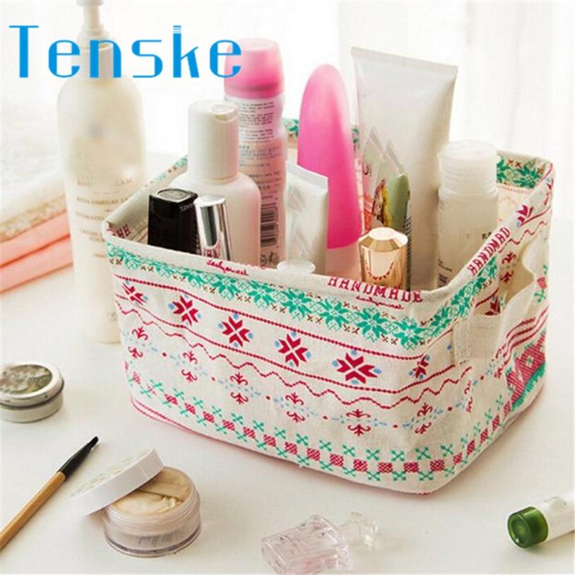 TENSKE Desktop Storage Boxes Makeup Organizer Storage Box U70418 rangement maquillage