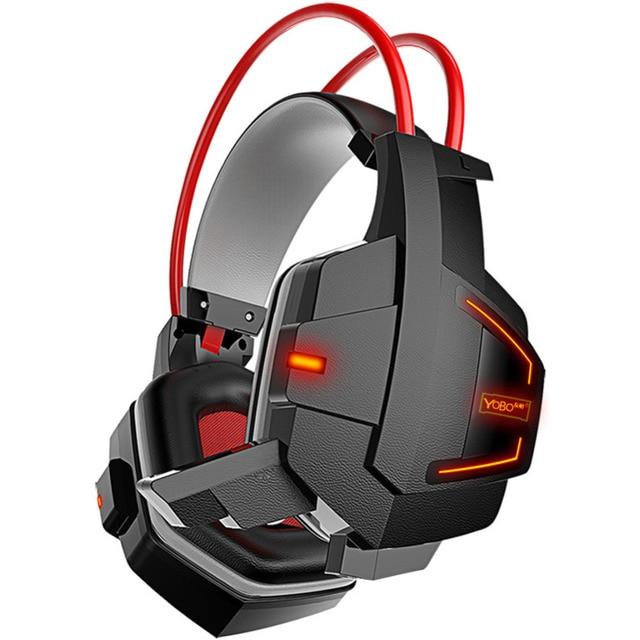 Ihens5 Stereo Headset Gaming PC Cercado Over-ear Fones De Ouvido com Controle de Volume do Microfone Com Cancelamento de Ruído para Computador Gamer