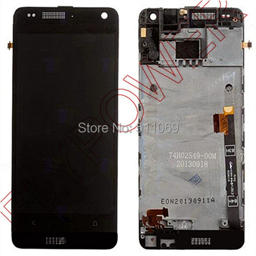 For HTC One Mini M4 601e LCD Screen Display with Touch Screen Digitizer+Frame Assembly by free shipping; Black color; HQ одежда больших размеров biao is still 12068 2014