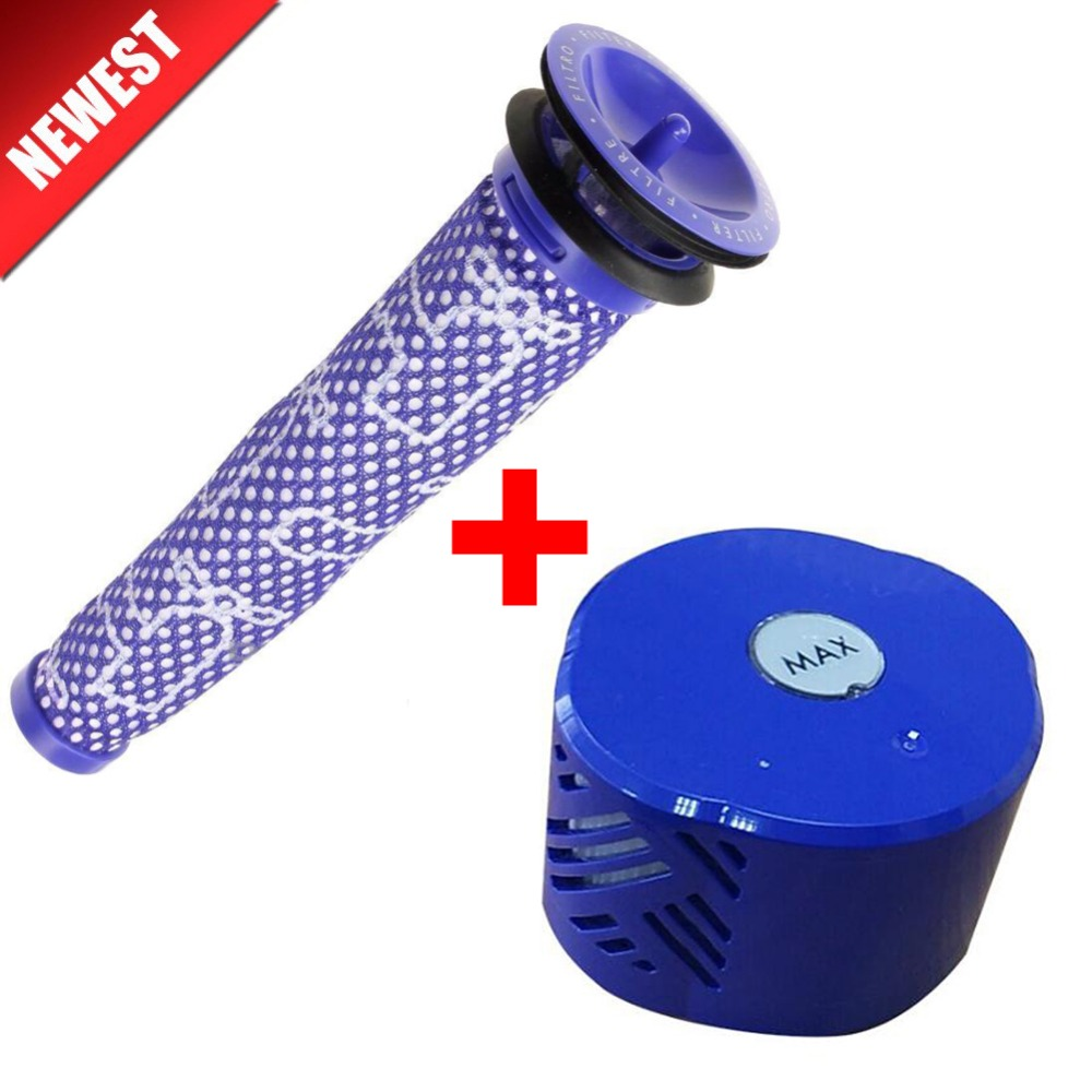 2pcs/set Pre & Post-Motor HEPA Filter Kit For Dyson V6 DC59 Vacuum Cleaner Parts Fit Part DY-96674101 & DY-96566101