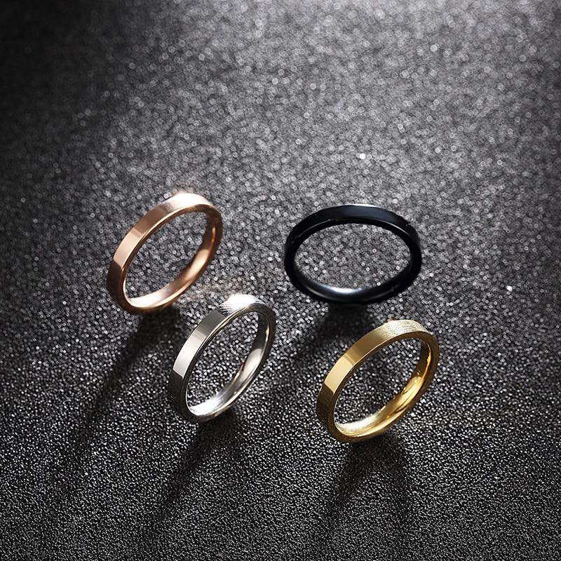 4 kom / set 316L Titanium prstenovi od nehrđajućeg čelika za kul - Modni nakit - Foto 5