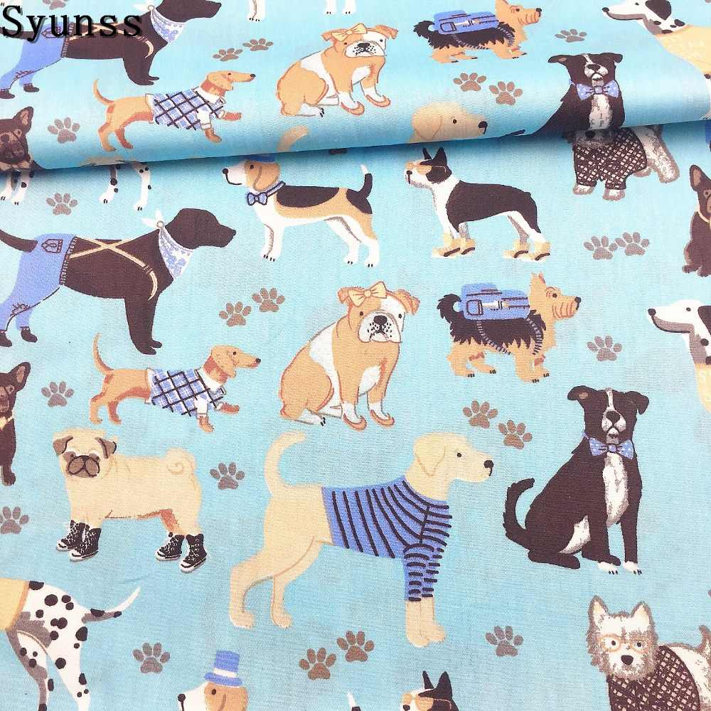 100/% cotton fabric by the half metre puppies dogs