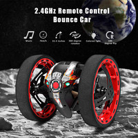 Newest Bounce Car PEG 81 2.4G Wireless Jump Remote Control Car Flexible Wheels Rotation Music LED Light Stunt Car Kids Gifts Toy
