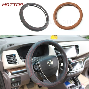 Leather Steering Wheel Covers Fit 95% Car Styling for Honda Odyssey 2015 2016 kia/vw/ford/toyota/nissan size 38cm High Quality honda odyssey