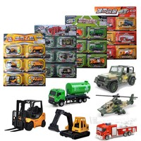 6Pcs/Set Alloy Engineering Car Model Tractor Toy Dump Truck Model Classic Toy Vehicles Mini Gift For Boys