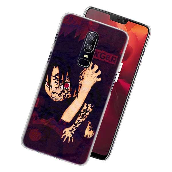 Naruto Sasuke Phone Case for Oneplus 6 6T 5T PC Hard Case Cover for Oneplus 6 6T 5T Mobile Phone Bag Case
