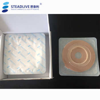 Durable Two-piece Colostomy System:Drainage 10pcs Colostomy Bag+5pc Baseplate~Stoma Care bags with Carbon Filter ~Hole size 57mm