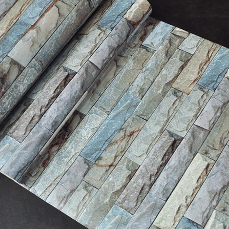 3D Stereo Embossed Brick Wallpaper Modern Simple Marble Stone Texture Wallpaper Living Room TV Backdrop Wall Restaurant 3D Decor
