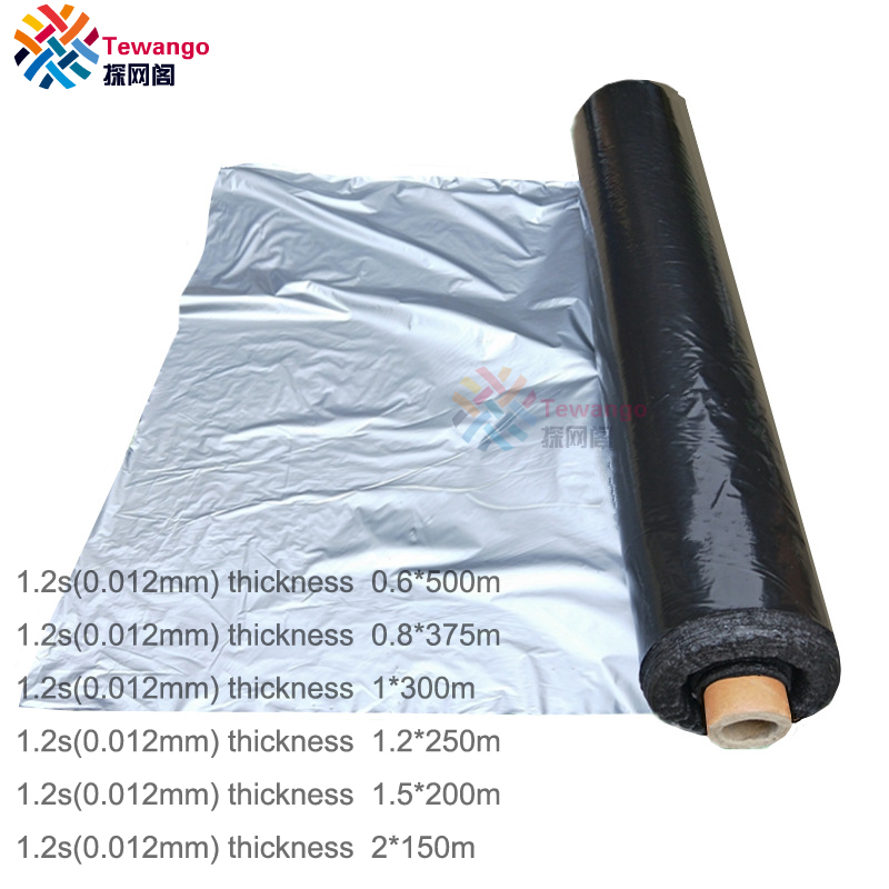Tewango 2019 Agriculture Silver Plastic Mulch Organic Insect Control Garden Vegetable Row Cover Ground Film Higher