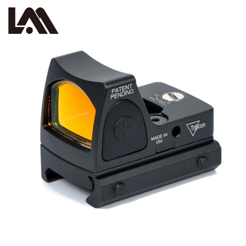 LAMBUL Tactical RMR Adjustable Reflex Red Dot Sight 3.25 MOA Scope for Hunting Fit 20mm Picatinny Rail and Airsoft Pistol tactical rmr reflex mini red dot sight scope without on off button for hunting airsoft shooting rl5 0033