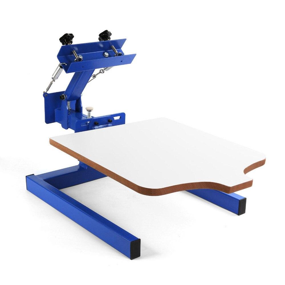 Einzigen Farbe Bildschirm Drücken Druck Maschine w/Abnehmbare Palette Spezielle Design Für Anfänger DIY