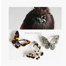 Fashion OL Leopard Butterfly Hair Clips Hairpins Accessories For Women Hairpins Jewelry