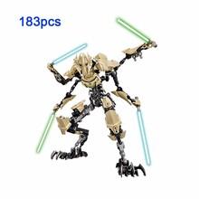Star Wars-gwiezdne wojny do zbudowania działania model figurki Captain Phasma Obi Wan Kenobi generał Grievous Kylo ren klocki zabawki KSZ tanie tanio Żołnierz części i podzespoły elektroniczne Montaż montażu KSZ XSZ 605 606 712 713 714 Modelu kitoz Półprodukty produkt
