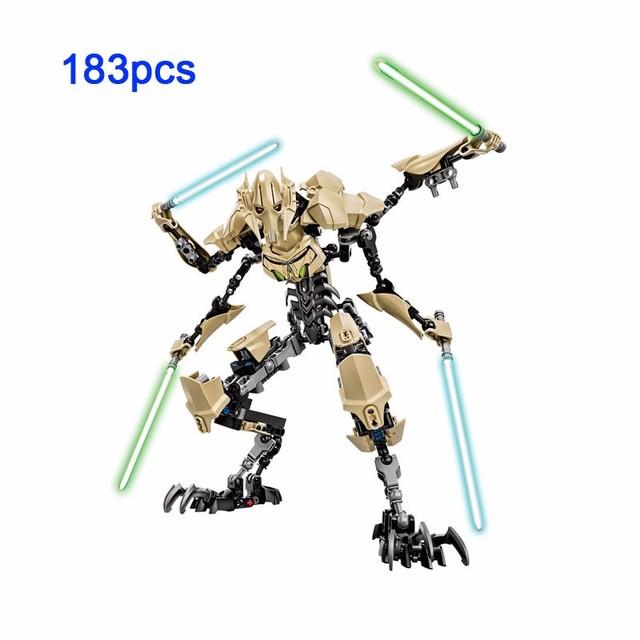 Star Wars-gwiezdne wojny do zbudowania działania model figurki Captain Phasma Obi Wan Kenobi generał Grievous Kylo ren klocki zabawki KSZ