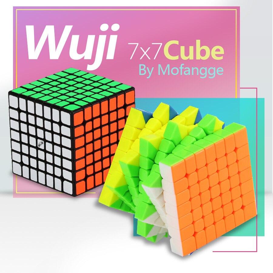 Mofangge Wuji 7 couches 7x7 Cube vitesse 7x7x7 noir sans autocollant 69mm Puzzle pour enfants cubo championnat d'apprentissage EducationToys