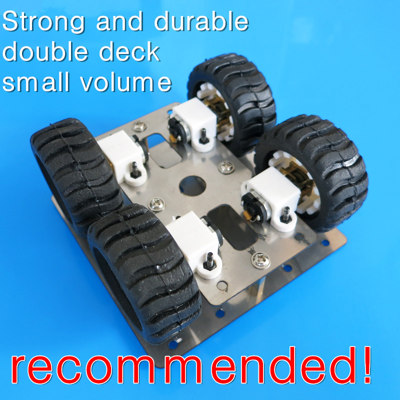 GOOD! Stainless steel N20 gear motor SMART CAR parts, car chassis ...